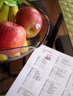 Grocery List courtesy of LeeAnn Smith, Registered Diatitian
