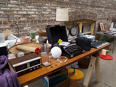 garage sale stuff; image courtesy of flickr user eob