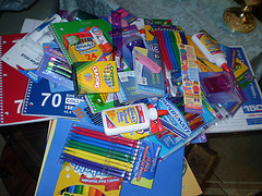school supplies image courtesy of flickr user evelynishere