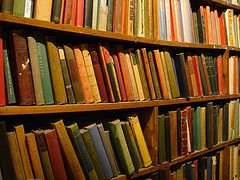 books on shelves image courtesy of flickr member gadl