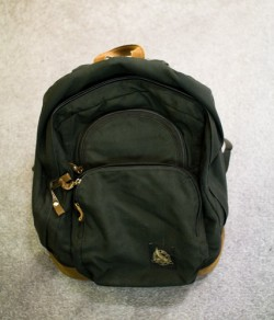 green backpak